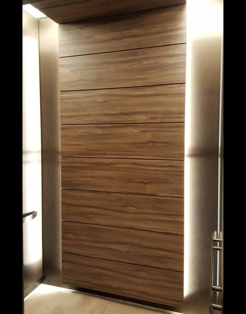 Plastic Laminate Feature Rear Wall
